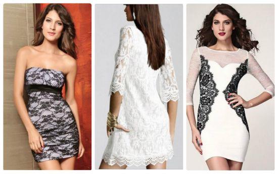 Платье гипюровое с чем носить
