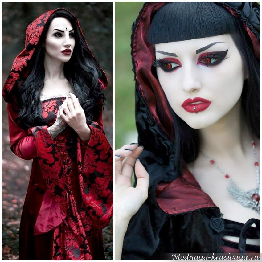 Кроваво-красный вампирский наряд