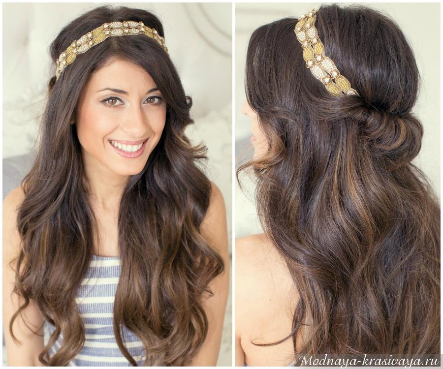 Греческая повязка на волосы