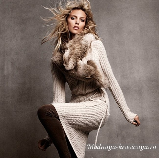 фото горжетки и вязаного платья