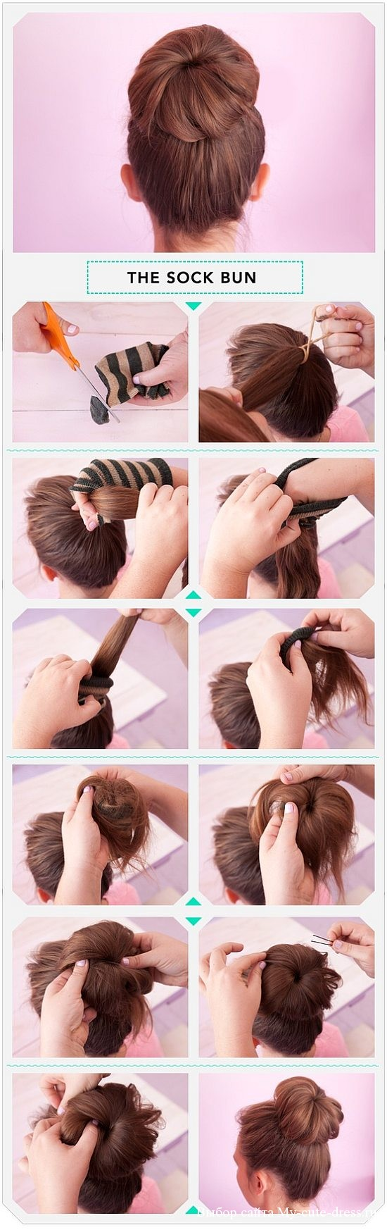 Как сделать дульку на голове