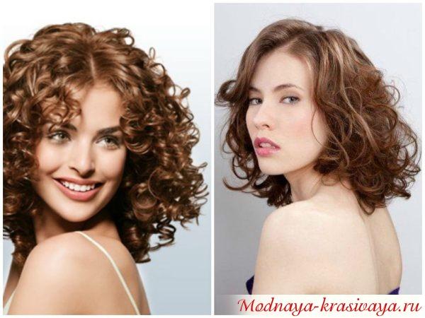 долговременная укладка средних волос, фотографии