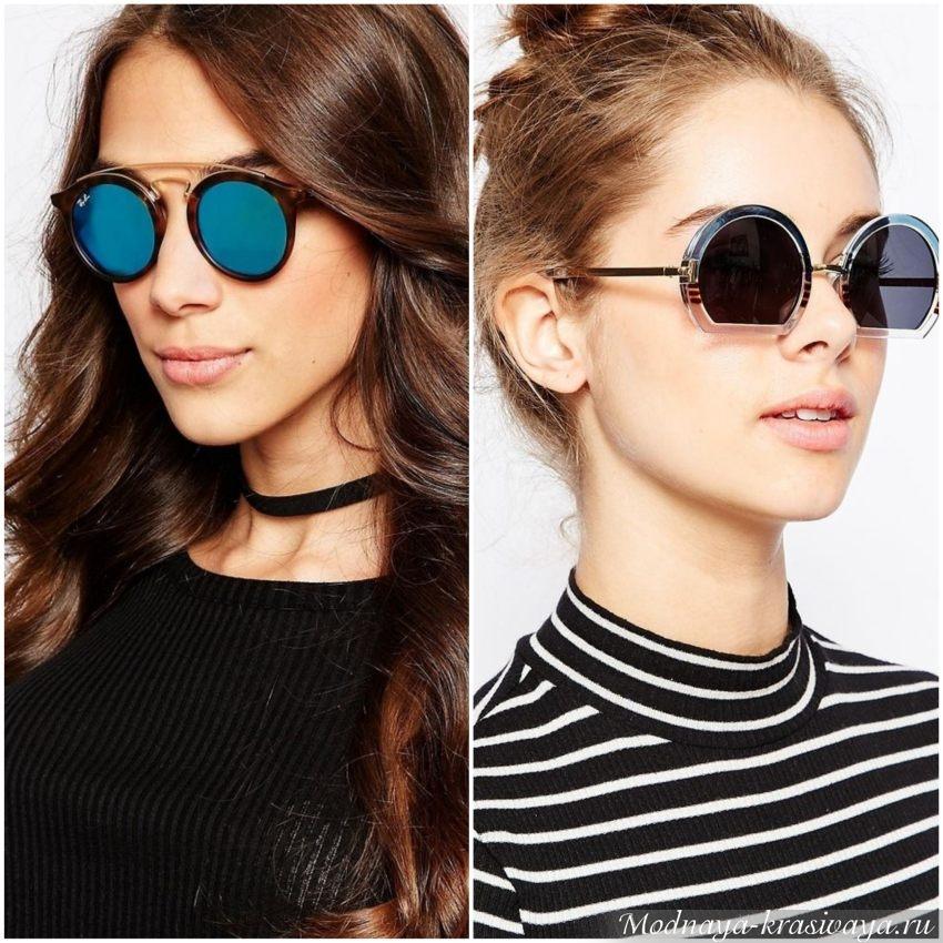 Очки для девушек с треугольной формой лица