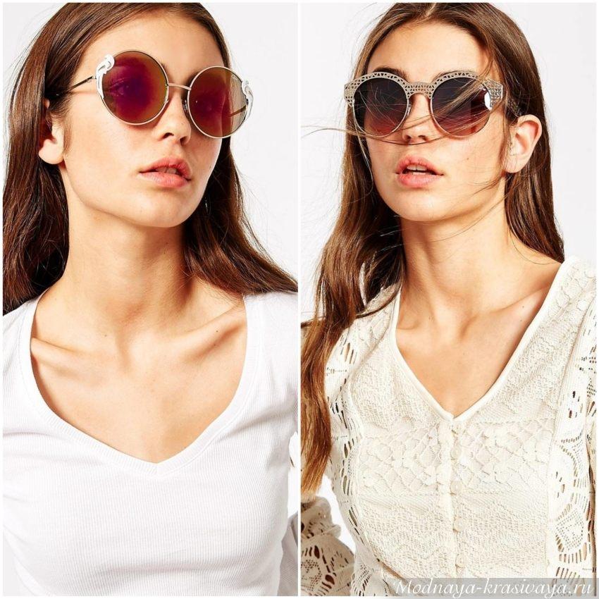 Классические очки для квадратной формы лица