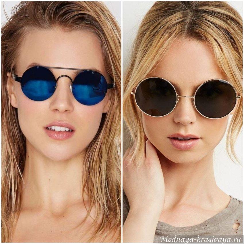 Круглые очки с тонкой металлической оправой