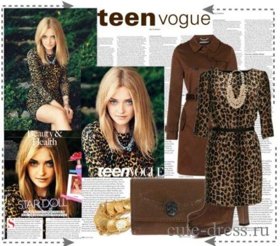 С чем надеть леопардовое платье
