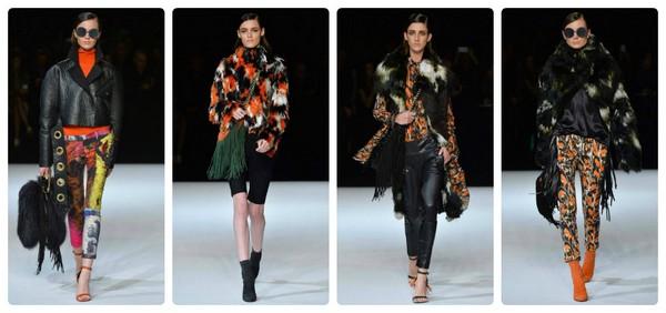 цветной мех в модных дизайнерских изделиях