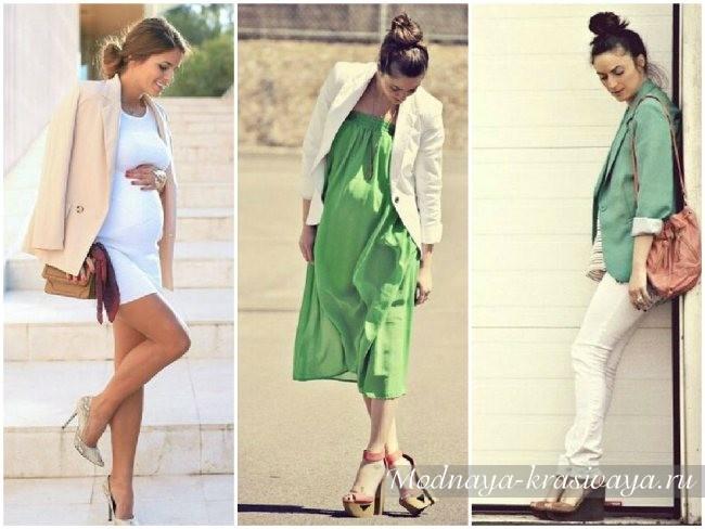Фото платьев для беременных весна-лето 2016