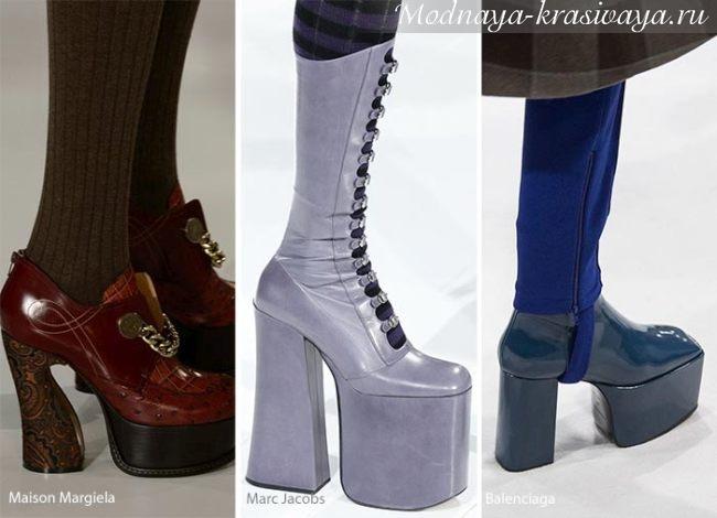платформа и высокие каблуки