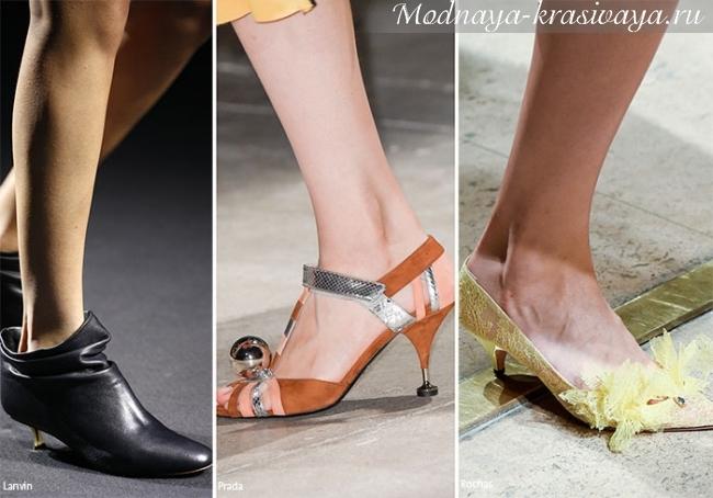 низкий каблук в моде