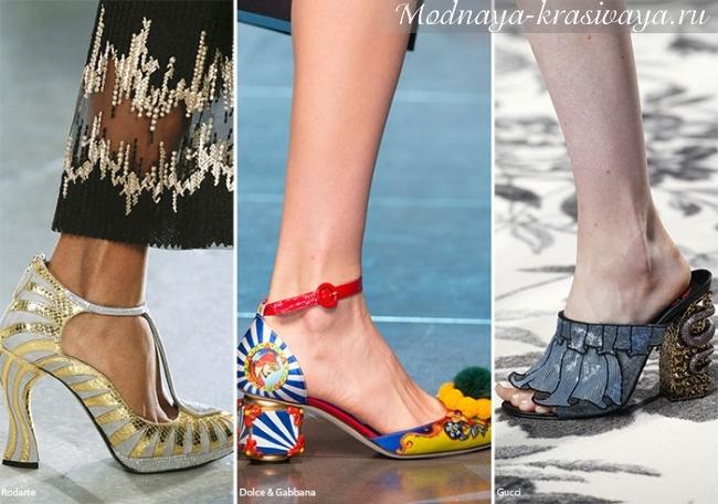женская обувь на необычном каблуке