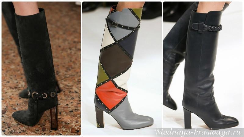 Модели на широком каблуке