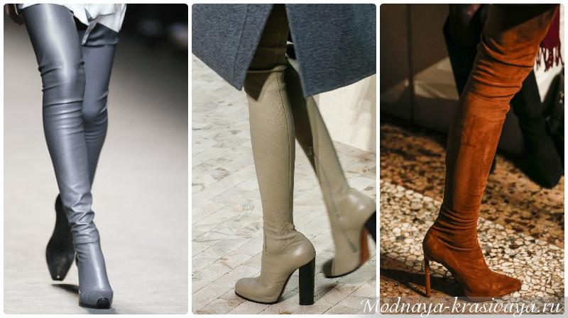 Модные сапоги-чулки осень-зима