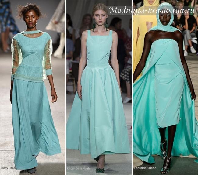 бирюзрвые платья