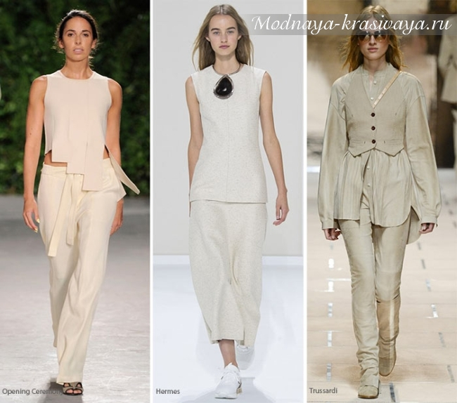 модные цветовые решения для женской одежды