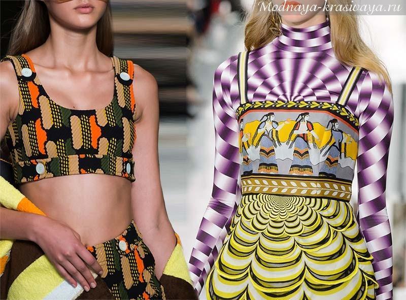 Модные принты весна-лето 2017