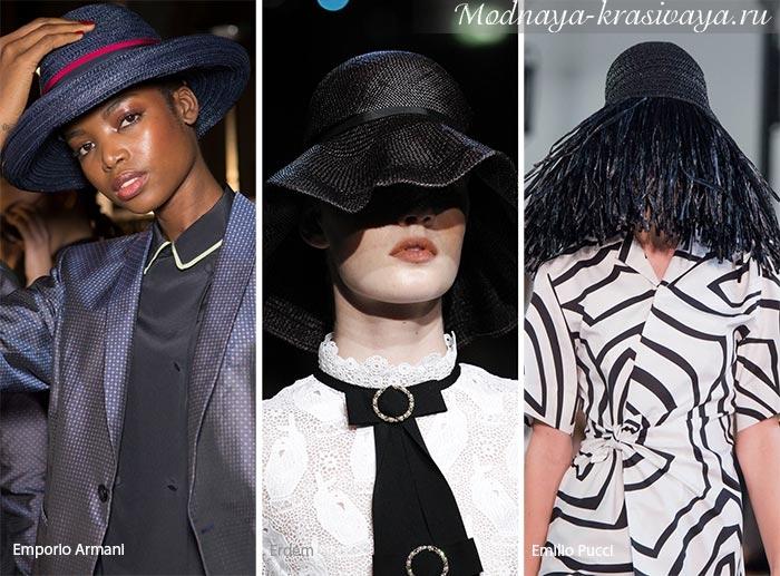 Элегантные черные головные уборы
