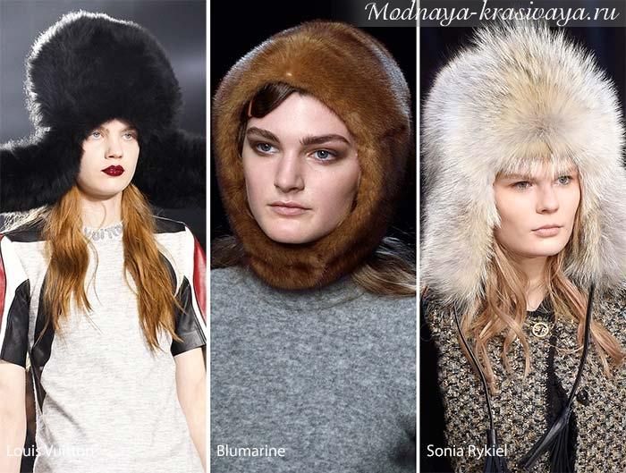 меховые зимние шапки