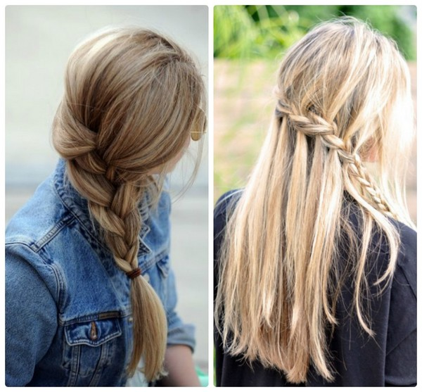 косички на длинные волосы