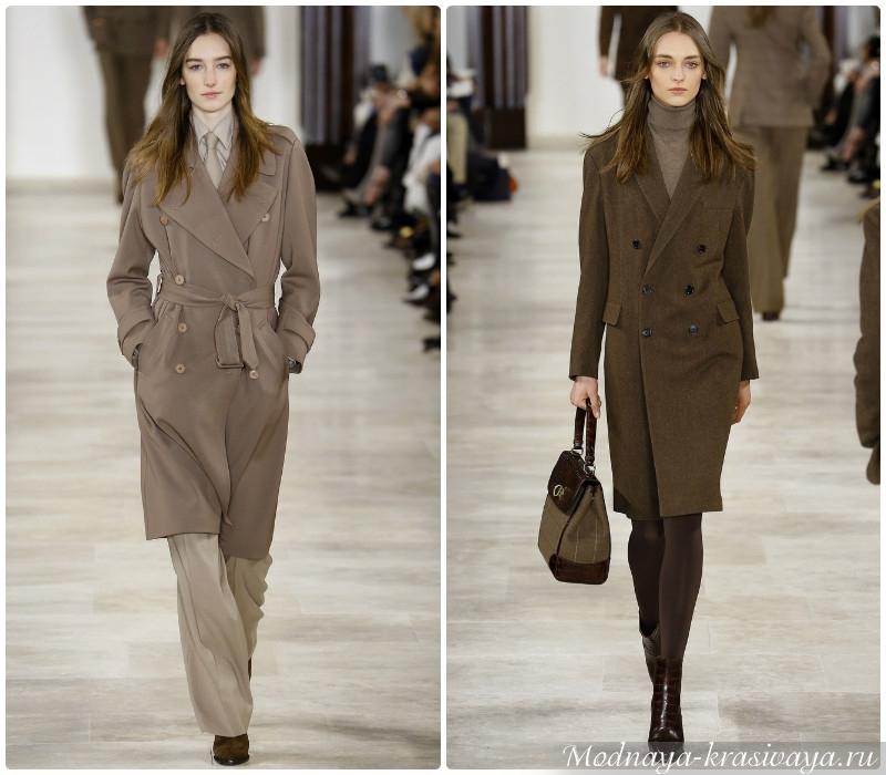 Пальто 2016-2017 женские классические модели