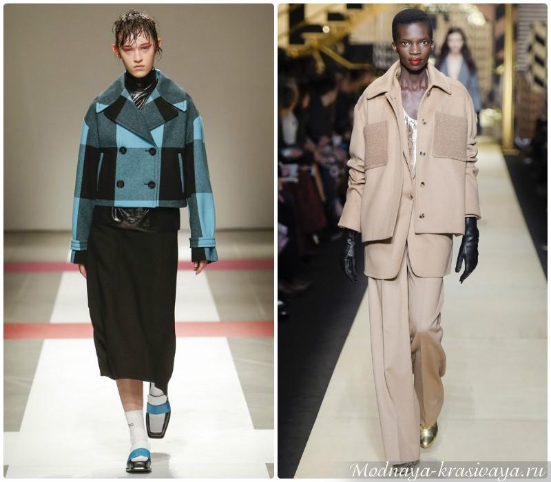 Короткие модели пальто