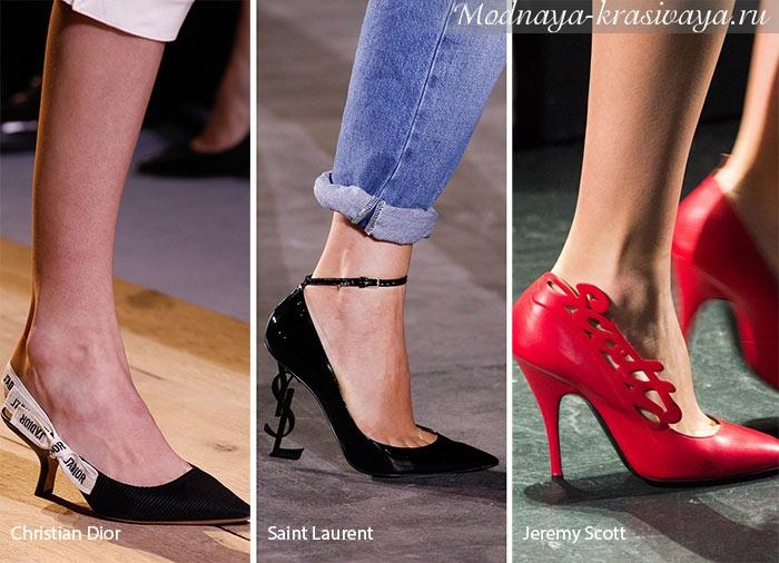 Логотипы брендов на туфлях