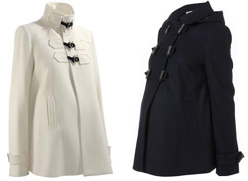 черное и белое пальто
