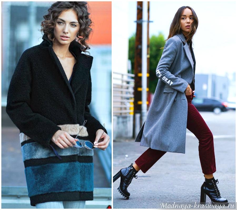 Модные пальто из драпа