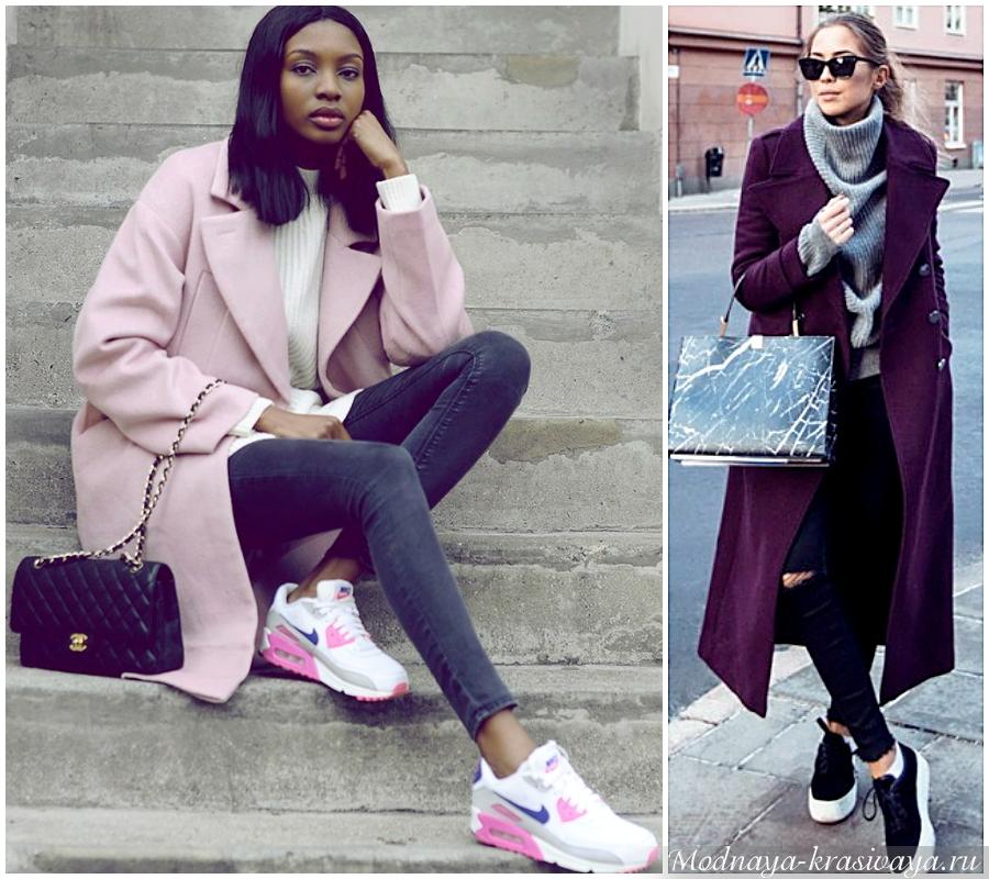 С чем носить драповое пальто?