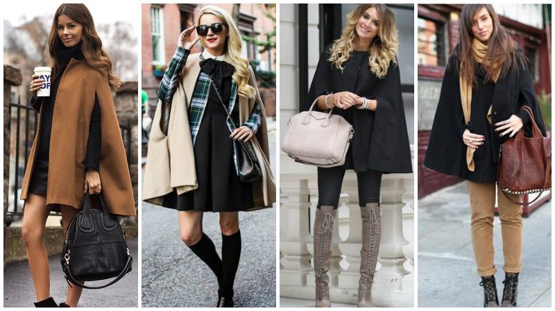 Пальто-кейп расклешенные модели
