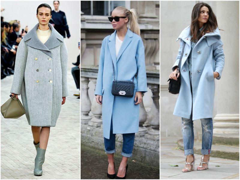 Пальто-оверсайз с джинсами
