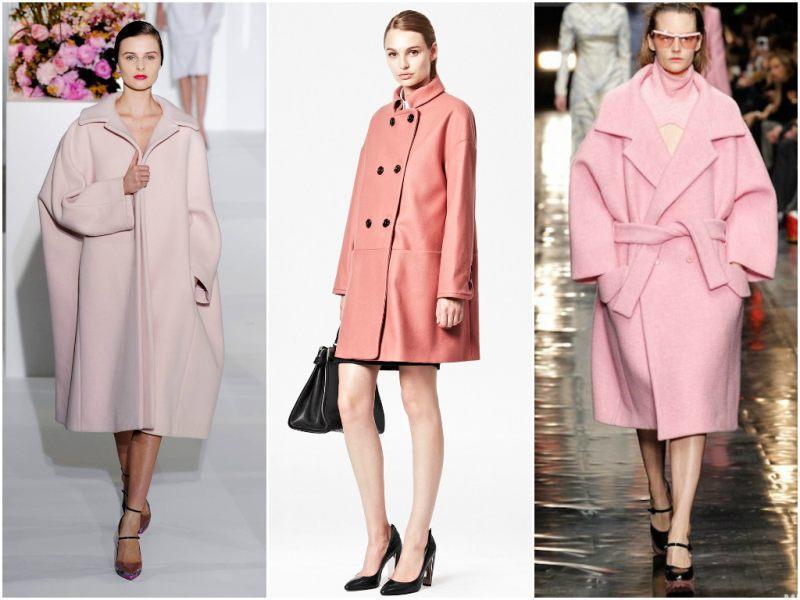 Пальто-оверсайз розового цвета