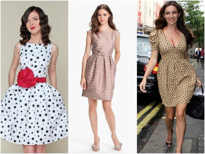 Ретро стиль: платье в горошек