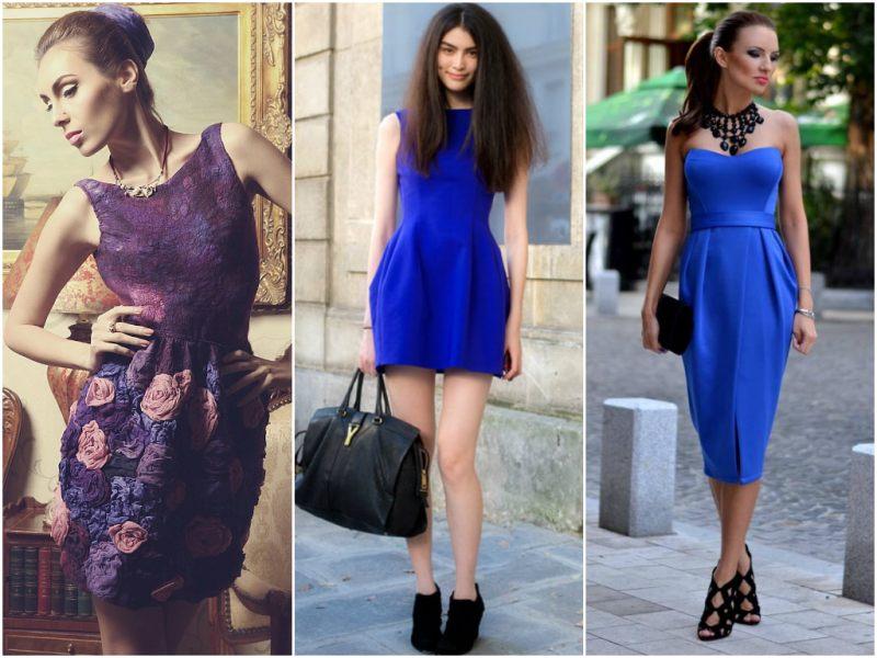 Платья синих цветов