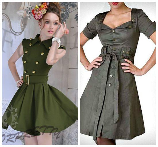 Платья в военном стиле