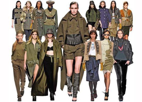 одежда в военном стиле для женщин