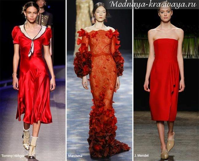 Модный цвет и длина платьев