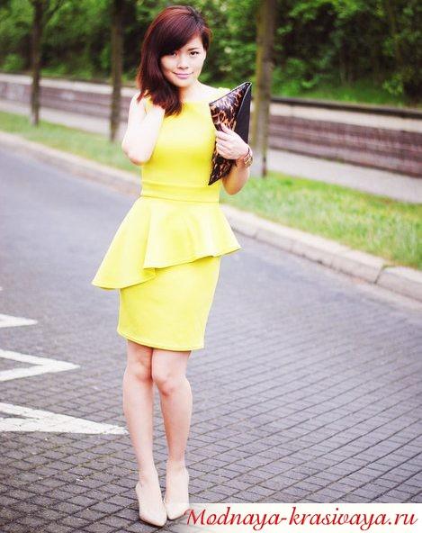 желтое, фото