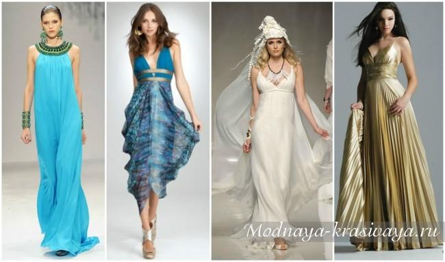 модные греческие платья 2017