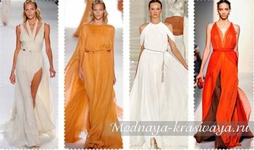 Модные платье в греческом стиле