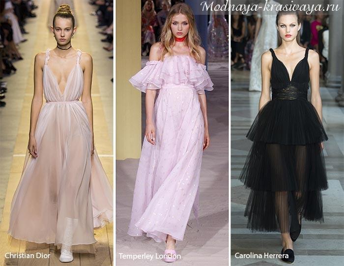 8a97c8ade89 Модные платья весна-лето 2017 - 100 фото дизайнерских новинок