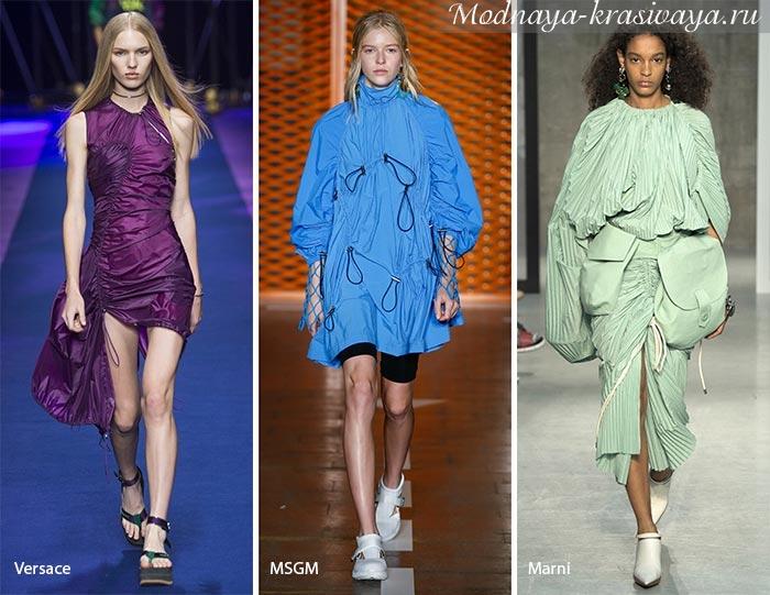 Яркие монохромные платья
