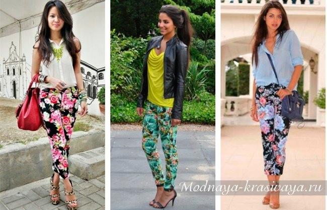 летние модели с цветами
