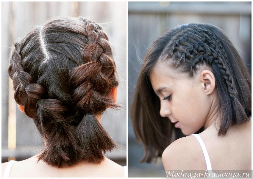 Прически для девочек на короткие волосы на 1 сентября