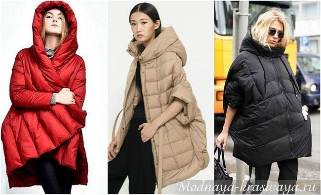 Цветные пуховые пальто