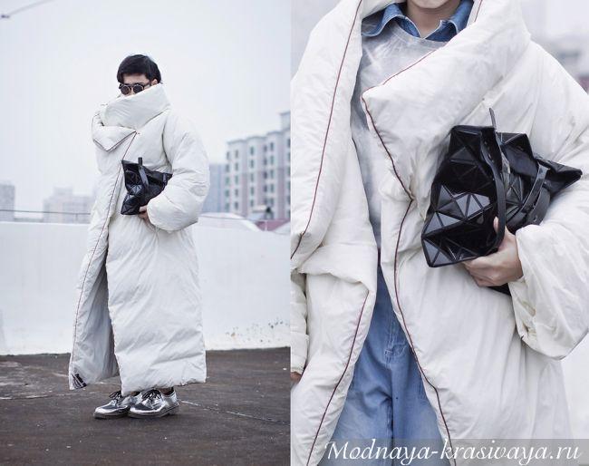Модный пуховик-одеяло