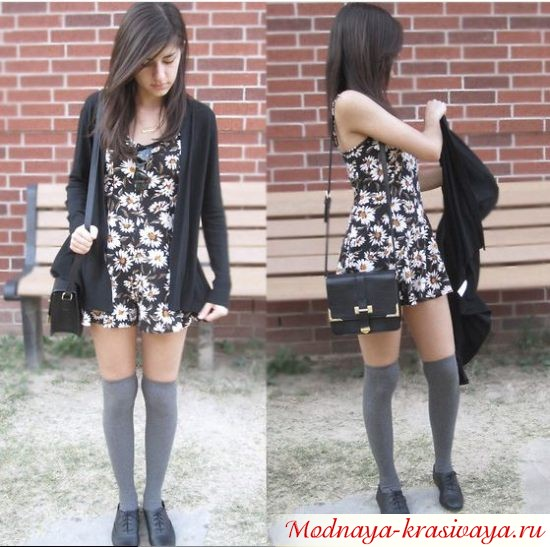 как носить кардиган с платьем