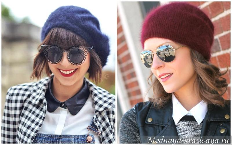 Модные шапки из ангоры