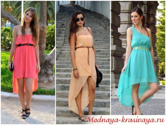 Модные платья из шифона 2015