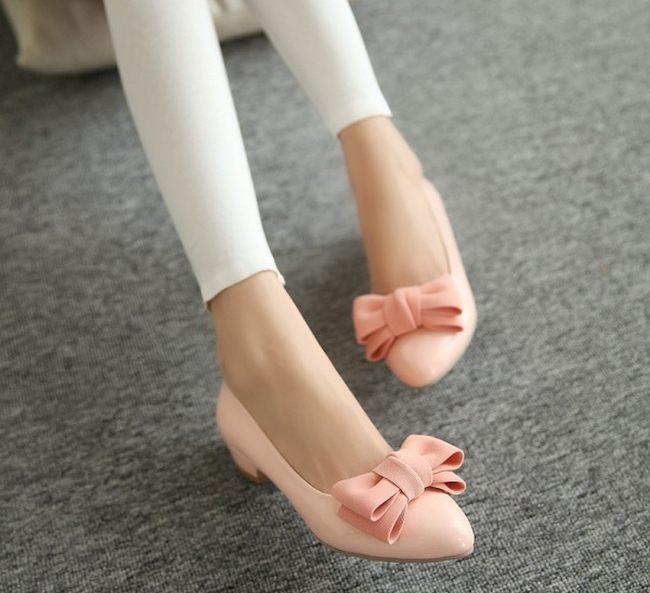 балетки с бантиком